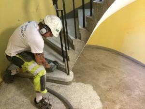 Rehabilitering av trapp ved Ris Skole